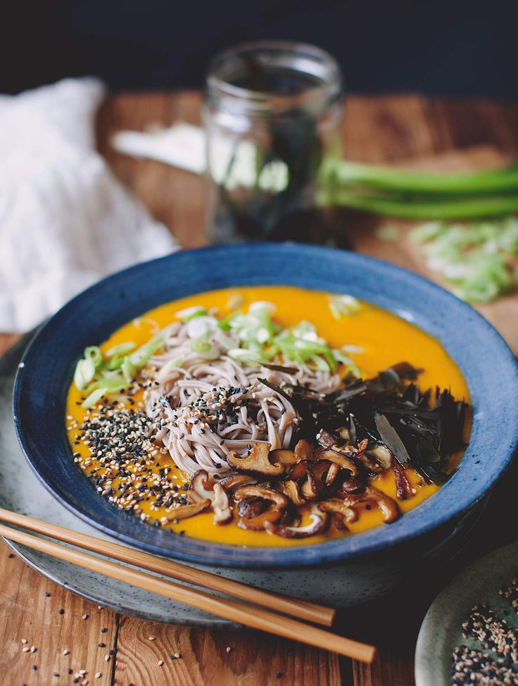 Pumpkin Miso Broth with Soba | My New Roots | Bloglovin'