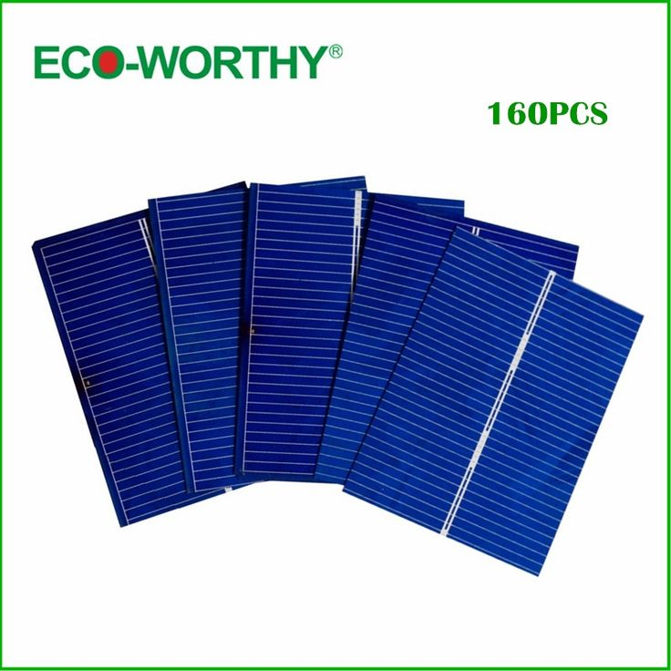 41.22$  Buy here - http://alijyh.shopchina.info/go.php?t=32792089376 - ECO-WORTHY 160pcs 52x39 Solar Photovoltaic Cells Kits DIY Solar Panel for Home Application System  #magazineonline
