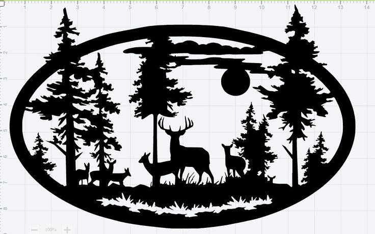 Deer In Nature Scene Large Svg Cut File By
