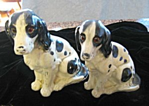 Antique chalkware Springer Spaniel figurines for sale at More Than McCoy on TIAS
