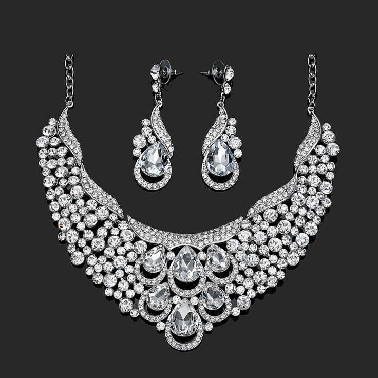 Crystal Silver Bridal Necklace