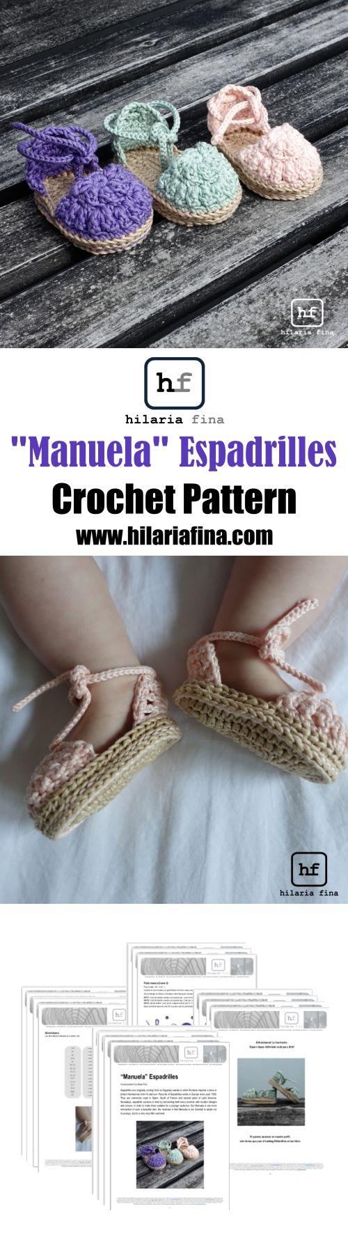 Espadrilles Baby - Pattern (Spanish & English) #ganchillo #crochet #baby