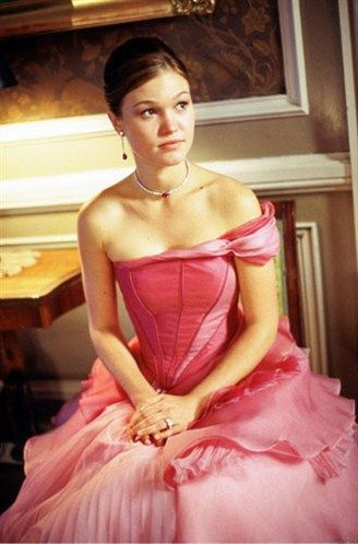 """Julia Stiles, The Prince and Me.  Julia Stiles in this GORGEOUS pink ruffled gown in """"The Prince and Me."""" This is SO beautiful, I WANT it!!!"""