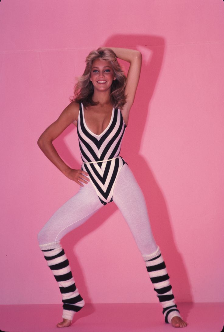 """Fab-letics"" was not just big in today's world but it was also huge in the 80s. Working out became all the rage which caused the atheltic fashion world to boom. The typical workout outfit would be a leotard, leg warmers and leggings like the photo above. The typical colors they would see for these outfits were bright neon and fun patterns."