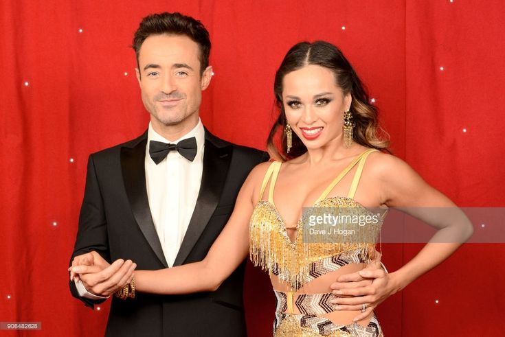 Joe McFadden (L) and Katya Jones attend the 'Strictly Come Dancing' Live! photocall at Arena Birmingham, on January 18, 2018 in Birmingham, England. Ahead of the opening on 19th January 2018, touring the United Kingdom until 11th February 2018.