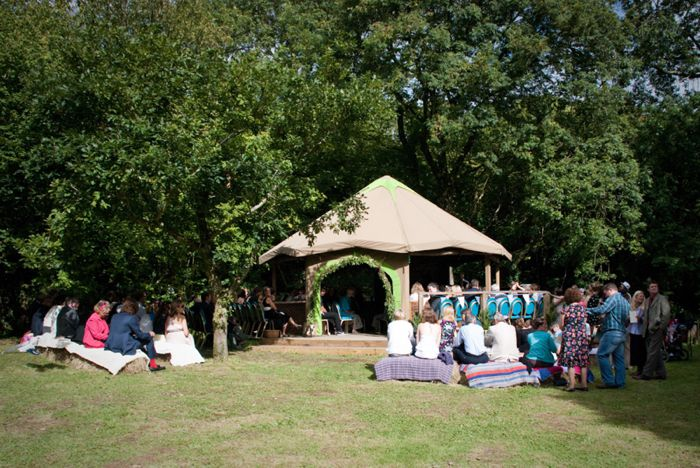 Civil wedding ceremony outdoor in Cornwall Cornwall wedding photographer - www.greenphotographic.co.uk