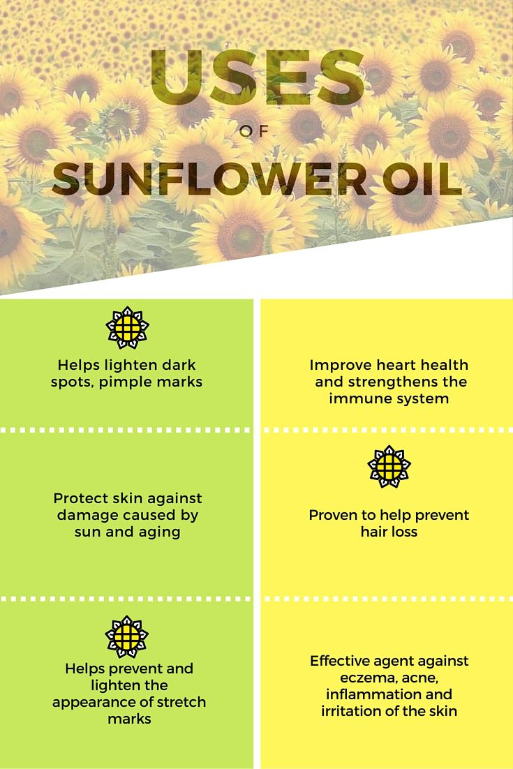 The Uses of Sunflower Oil to Skin