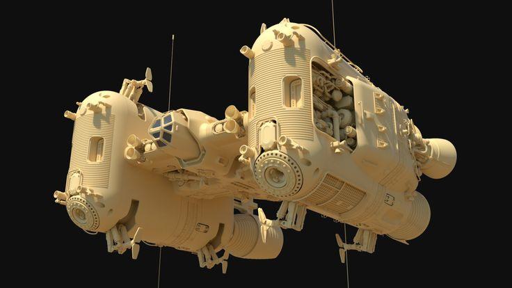 ArtStation – Pegasus fuel hauler concept., Anton Swanepoel