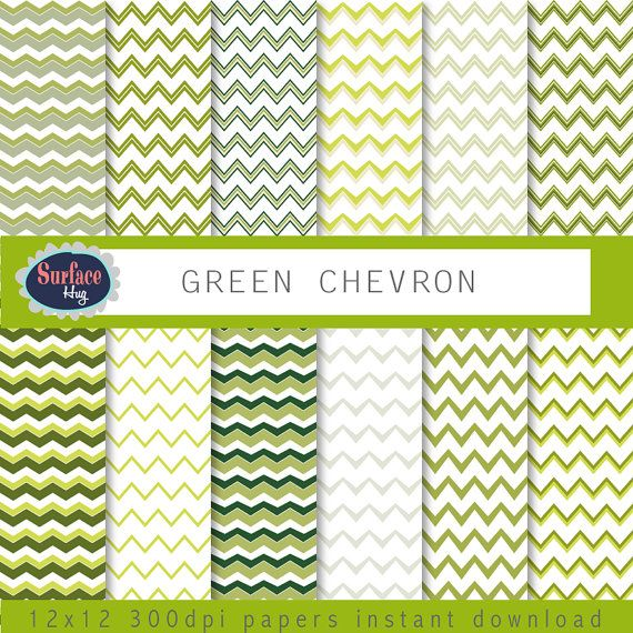 Digital Paper GREEN CHEVRONS Green background, with green chevrons, blog background, Green digital paper, Chevron paper, commercial free. #etsy #pattern