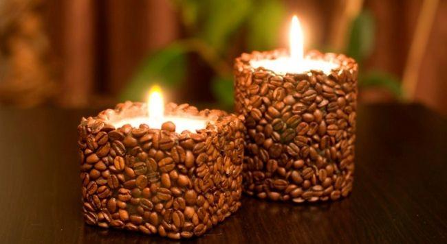 Свечи с ароматом кофе