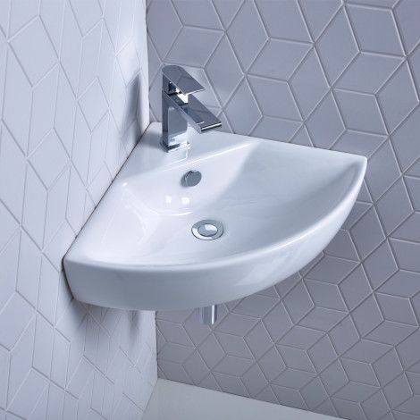 Zest 450mm corner basin | Roper Rhodes