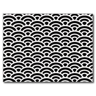 motif noir et blanc d 39 art d co cartes postales ann es. Black Bedroom Furniture Sets. Home Design Ideas