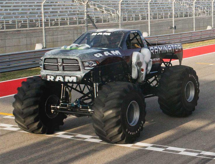 "Raminator breaks the Guinness World Record for the ""Fastest Speed for a Monster Truck""  http://www.4wheelsnews.com/raminator-breaks-the-guinness-world-record-for-the-fastest-speed-for-a-mons/  #raminator #ram"