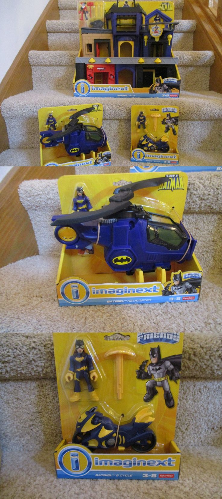 Other Fisher-Price 1963-Now 374: Fisher Price Imaginext New Ultimate Set Batgirl Helicopter City Motorcycle Lot -> BUY IT NOW ONLY: $173.32 on eBay!