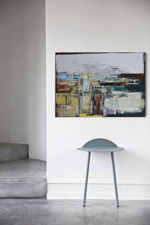 "Buy Oil painting, canvas art, stretched, ""Layer city 89"". Size 39,4/ 27,6 inches (100/70cm), Oil painting by Karina Antończak on Artfinder. Discover thousands of other original paintings, prints, sculptures and photography from independent artists."