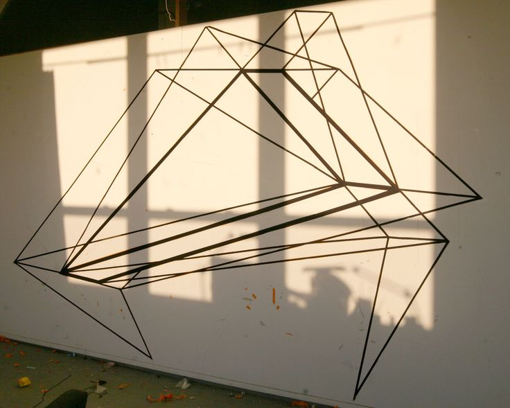 alex menocal via design for mankind   done with tape!