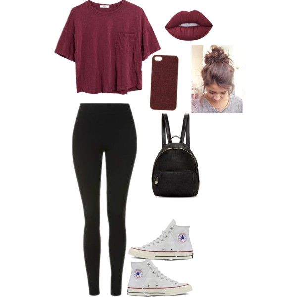 A fashion look from July 2016 featuring Madewell t-shirts, Topshop leggings and Converse sneakers. Browse and shop related looks.