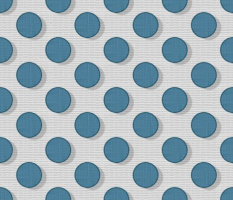 blue pois and stripes 50 fabric by chicca_besso on Spoonflower - custom fabric