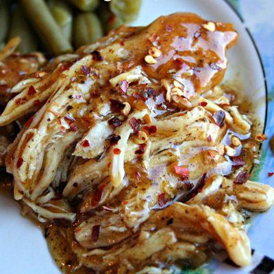 Slow Cooker Brown Sugar & Garlic Chicken… Oh, so delicious!