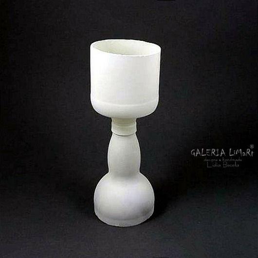 PREZENT. Eko-świecznik ze szklanej butelki / GIFT. Eco-candlestick made of a glass bottle. Unique  hand made  gift :)