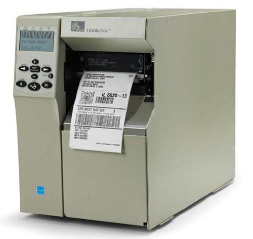 Zebra Technologies 102-8K1-00100 105SLPlus Barcode Printer, 203 DPI, RS-232 Serial, Parallel, Internal Zebra Technologies net 10/100 Print Server, Cutter with Catch Tray, 16MB SDRAM. Maximum print width: 4.09 inch. Maximum mono print speed: 12.01 in/s. Zebranet B/G print server. Outdoor conditions-232 interface. USB 2.0 interface.