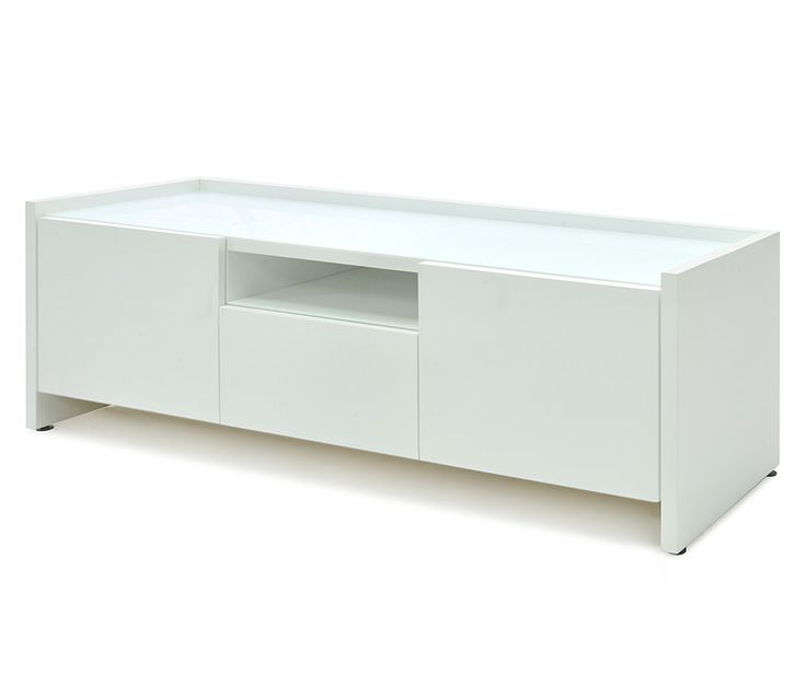 Modern Office Storage Credenza In White Lacquer, Gloss Finish. Modern  Sideboard, Server, Buffet In White Gloss Finish, Miami.
