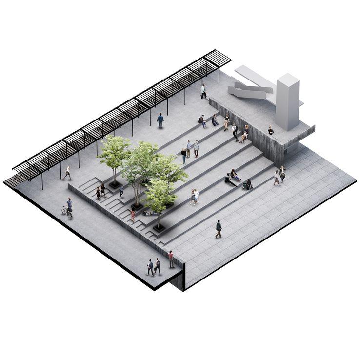 Galería de Ernesto Silva Raso y equipo, mención honrosa en concurso del futuro edificio FADEU-CMPC - 9