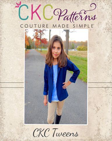 Create Kids Couture - Roxie's Tween Fitted Blazer PDF Pattern, $8.00 (http://ckcpatterns.com/roxies-tweens.html)