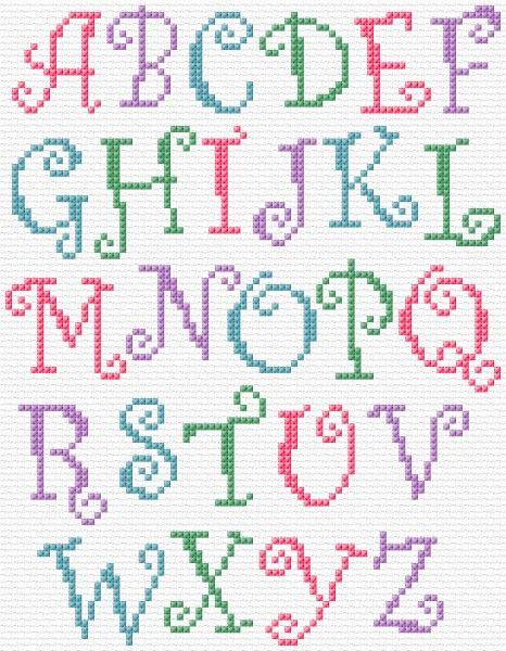 Maria Diaz Designs: Curly Alphabet