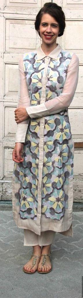 Pinterest @Littlehub  ༻♡ღღ ~kurti Inspirations╭✧❤.Love the shirt patterned kurti