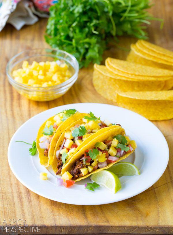 Make Your Own Tacos al Pastor Recipe #tacos #mexican