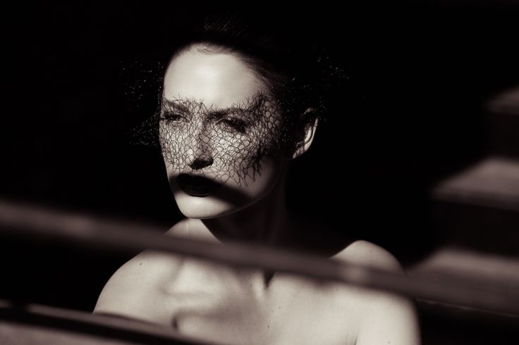 Black mesh veil carved out of the moment. When light gives meaning: silenced. Fashion photography by Rebekah West. Contact Rebekah at http://www.rebekahwest.com/#!/contact Veil by Stoten Millinery. Makeup by Alchemy. Model Jessica Dunphy. #veil #feminine #couture #photography