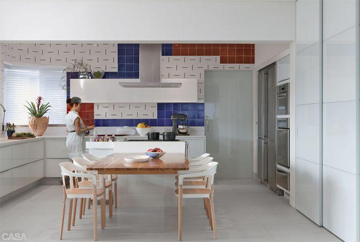 1000 ideias sobre ilha de cozinha moderna no pinterest for Azulejo vitrificado