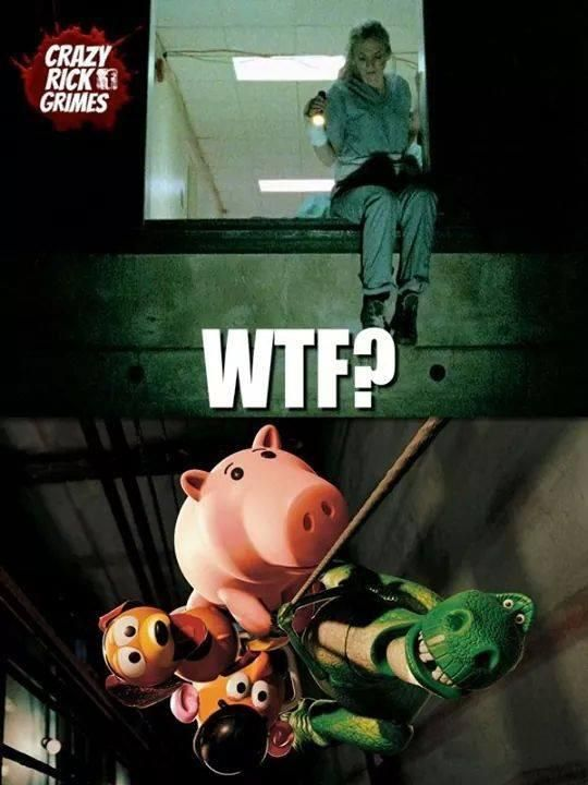 The Walking Dead meets Toy Story