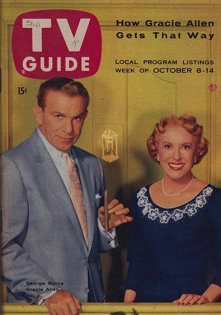George Burns and Gracie Allen TV Guide - October 8-14, 1955 I ALWAYS KNEW DOWN DEEP THAT GRACIE WAS THE BRAINS BEHIND THE TEAM.