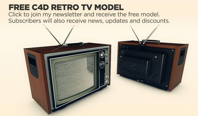 free retro tv 3d model c4d remember these things. Black Bedroom Furniture Sets. Home Design Ideas
