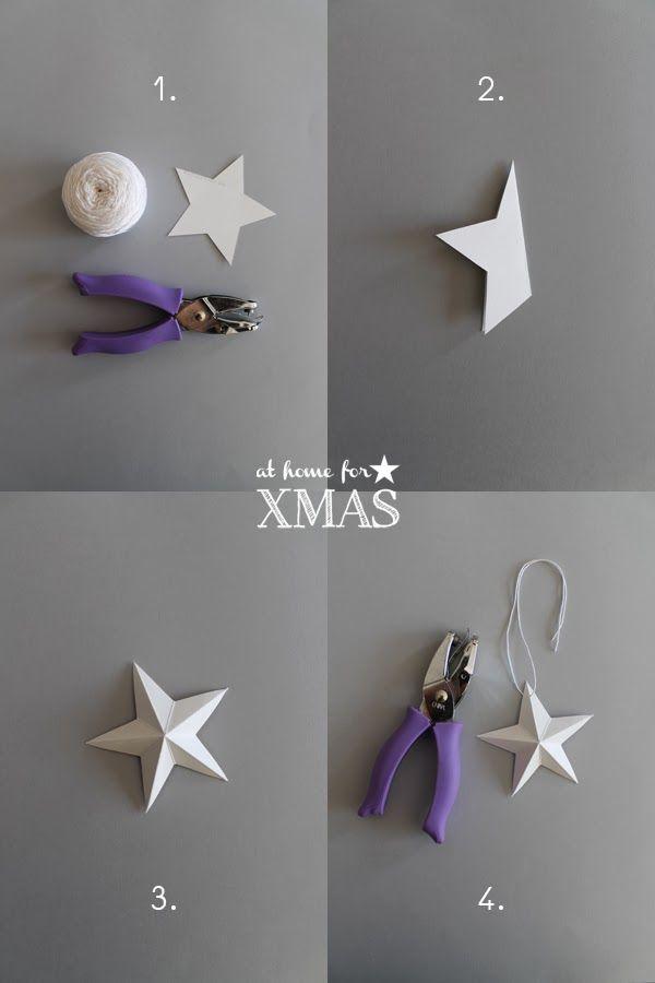 giochi di carta: Paper stars 3D At home for XMAS