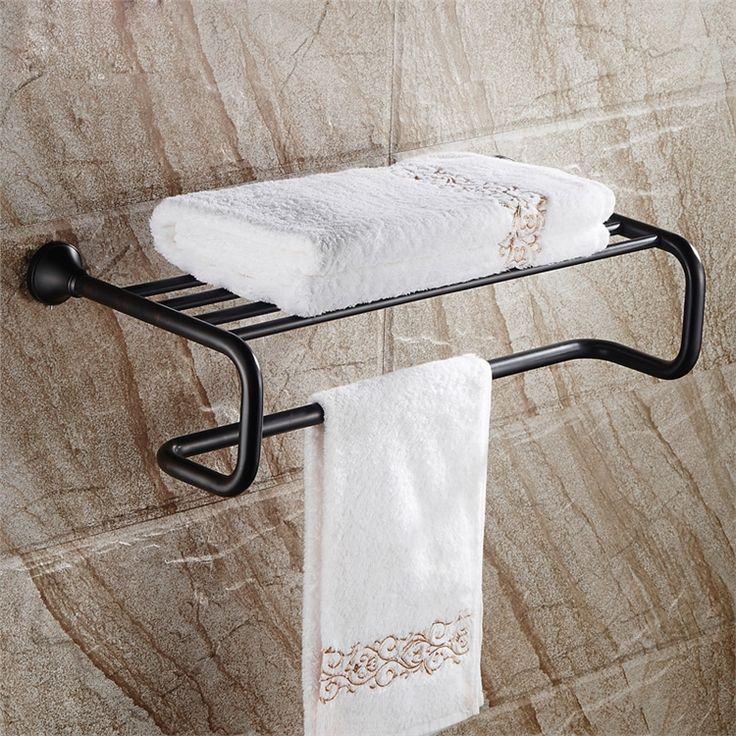 タオル掛け 浴室タオルラック ハンガー タオル収納 バス用品 真鍮製 ヴィンテージ ORB