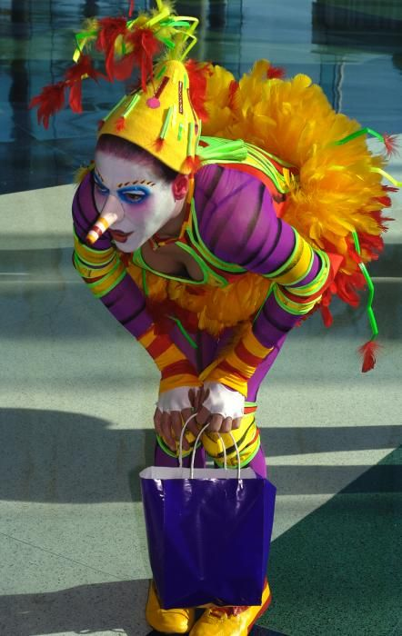 Clowness from Cirque de Soleil Greeting Card