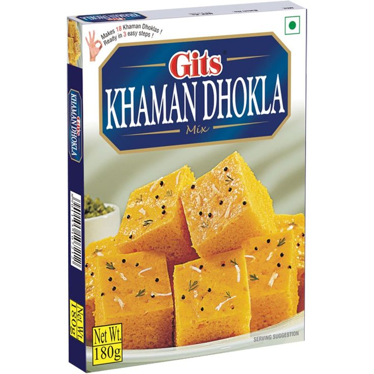 GITS KHAMAN DHOKLA 500 GMS - Khaman Dhokla is a popular traditional snack made from fermented chick pea batter.
