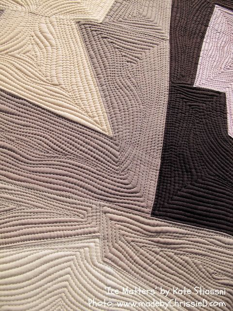 close up, Ice Matters by Kate Stiassni - 'Spaces in Between': 2013 Contemporary Textile NYC Exhibition. Photo by made by ChrissieD