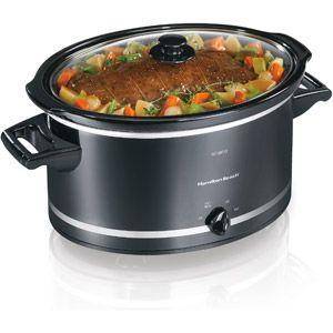 Need a bigger crock pot for my expanding family. Hamilton Beach 8-Quart Extra-Large Capacity Slow Cooker, Black