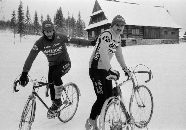 Czesław Lang i Lech Piasecki.  Zakopane 1986. Photo Credit: Jan Rozmarynowski /Forum