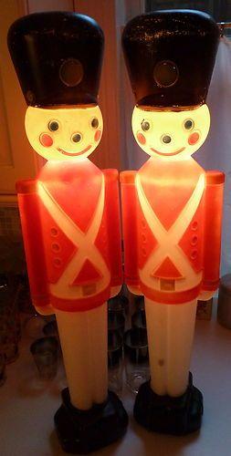 Vintage 1996 Toy Soldier Plastic Blow Mold Light Decoration Yard Decor Christmas | eBay