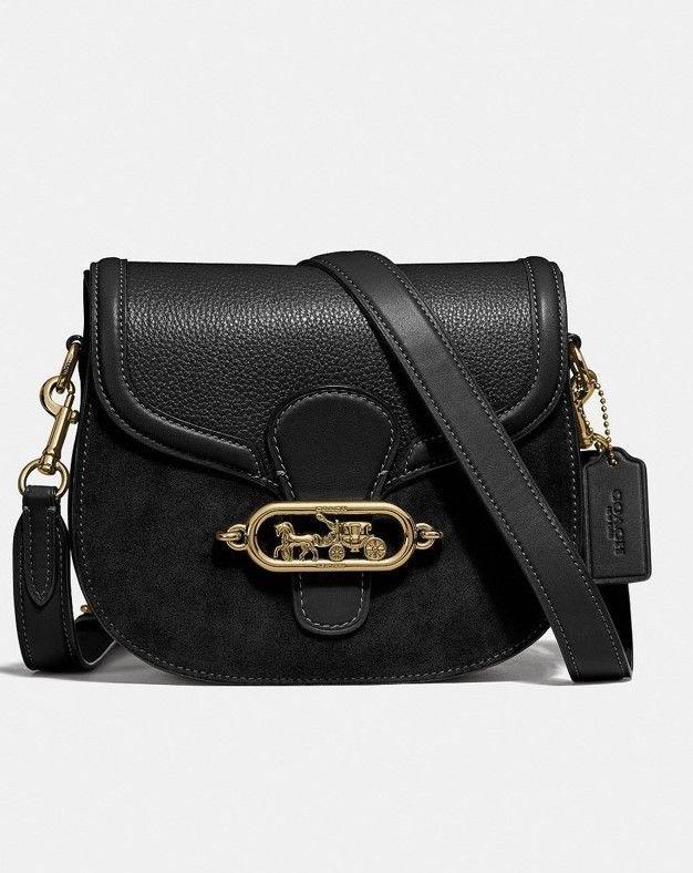 65e0f28f5a Details about COACH F31113 Women s Leather Suede ELLE Saddle ...