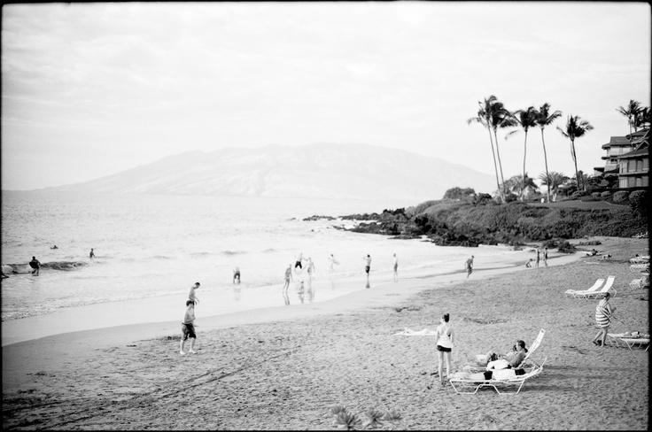 South Maui  January 14, 2012  Leica M7  Warm water and lounge chairs.