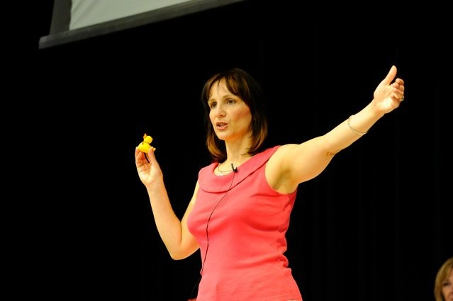 There is a point to the duck - really. I am speaking at a nursing conference in BC here.