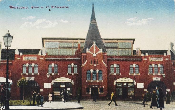 Warszawa, halla[!] na pl. Witkowskim, 1916