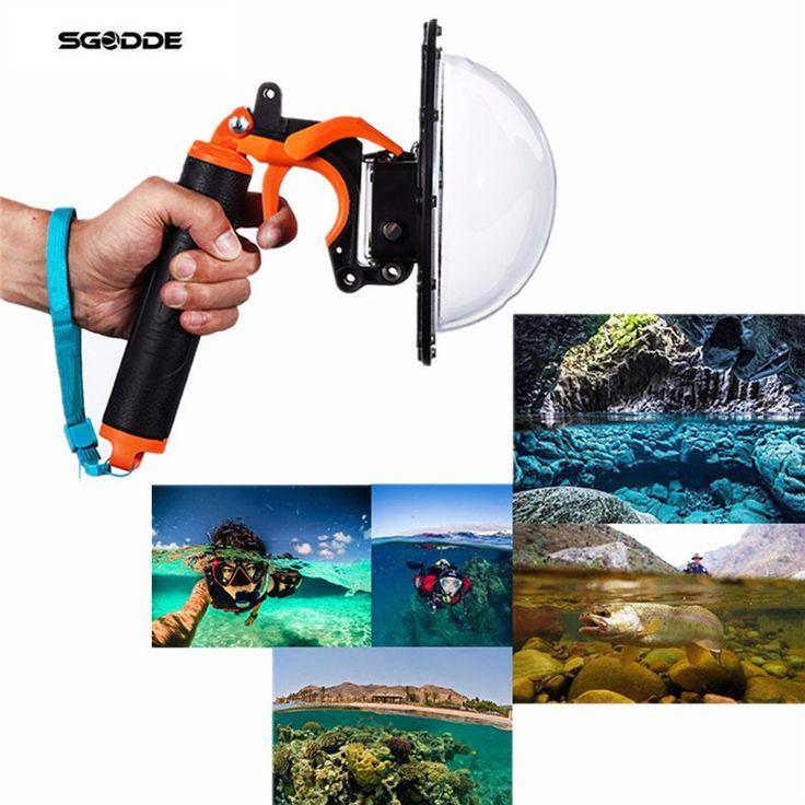 Underwater Diving Dome Port Fish Eyes Lens Cover Diving Dome Port Lens Float Handgrip+Trigger For Gopro Hero 4 Pool Accessories #Affiliate