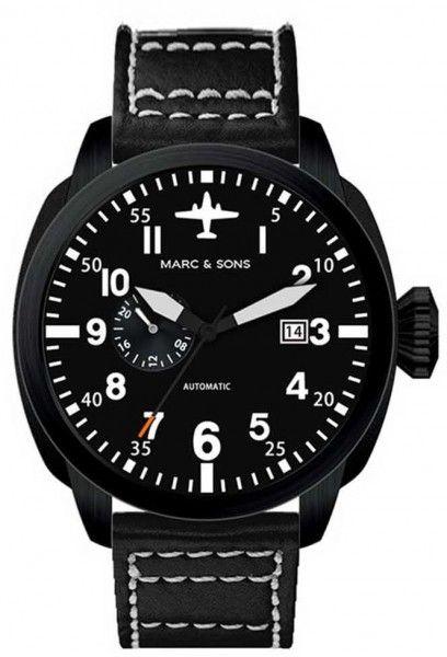 MARC & SONS Uhr, Automatik Herrenuhr, Fliegeruhr, Pilot Watch - MSF-004 MARC & SONS Uhren aktuelle Kollektion